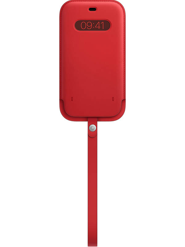 Чехол для APPLE iPhone 12/12 Pro Max Leather Sleeve with MagSafe Red MHYJ3ZE/A