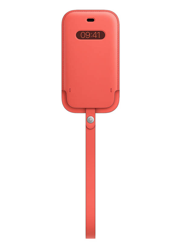 Чехол для APPLE iPhone 12 mini Leather Sleeve with MagSafe Pink Citrus MHMN3ZE/A