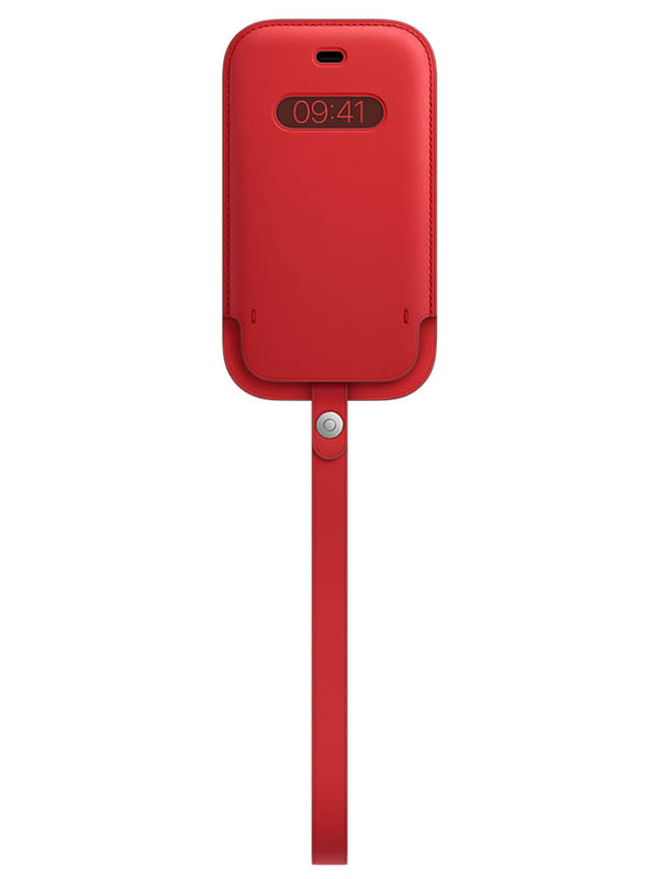 Чехол для APPLE iPhone 12 mini Leather Sleeve with MagSafe Red MHMR3ZE/A