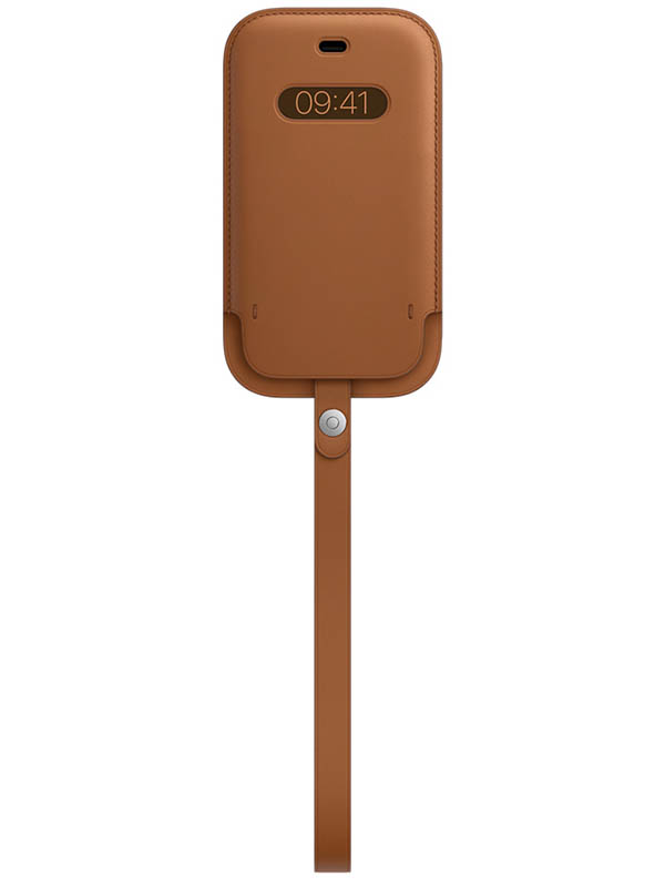 Чехол для APPLE iPhone 12/12 Pro Leather Sleeve with MagSafe Saddle Brown MHYC3ZE/A