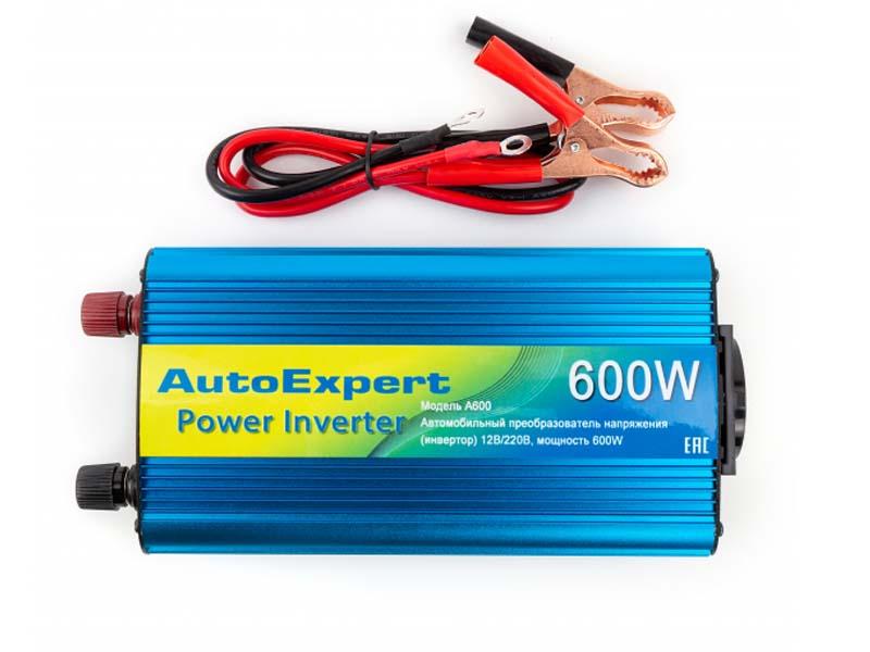 Автоинвертор AutoExpert A600 (600Вт) с 12В на 220В автоинвертор avs in 200w a80683s с 12в на 220в