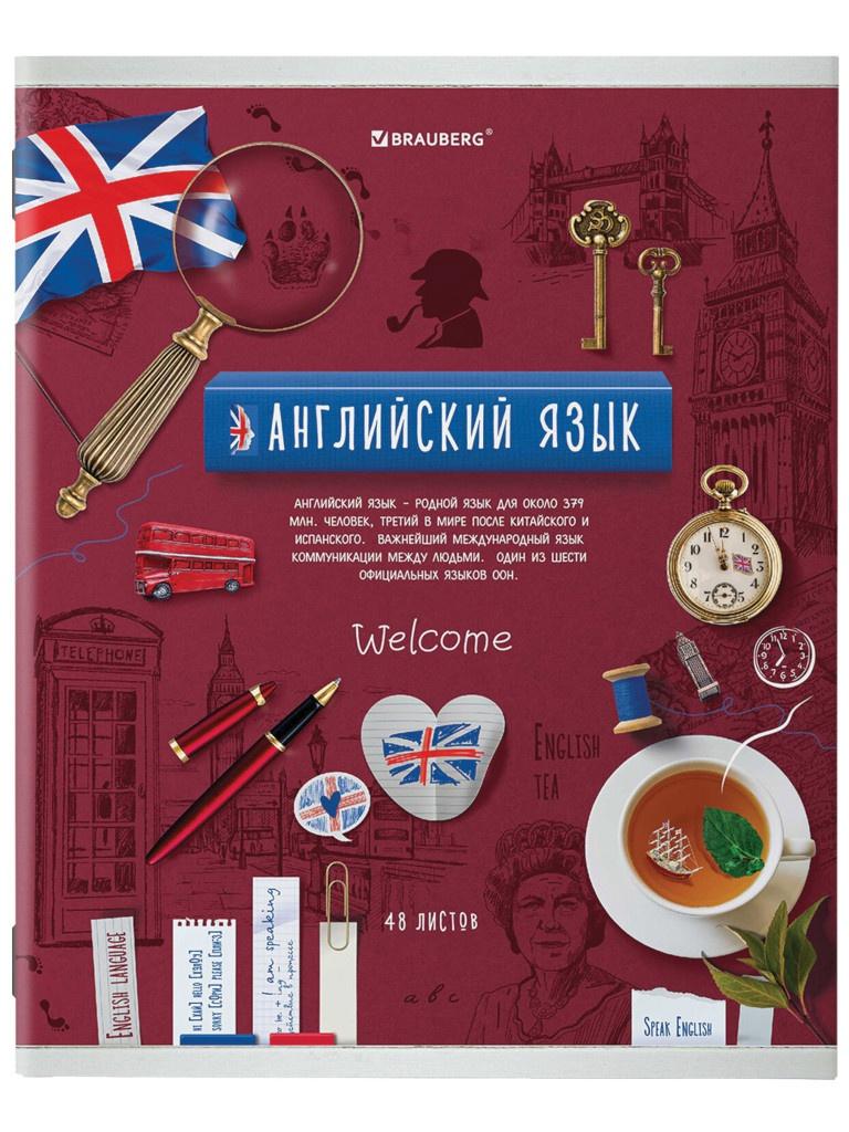 Тетрадь Brauberg Collage Английский язык 48 листов 403992