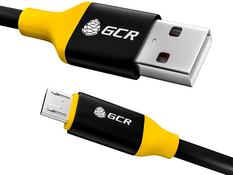 Фото - Аксессуар GCR USB - MicroUSB 0.25m Black-Yellow GCR-50560 аксессуар gcr usb type c 1 2m black yellow gcr 51867