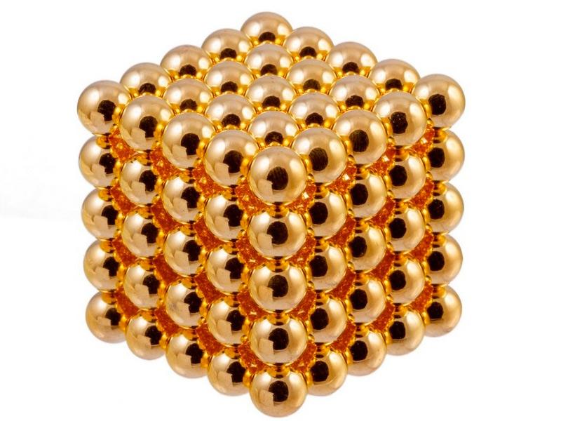 Магниты Forceberg Cube 10мм 125 элементов Gold 9-4818236