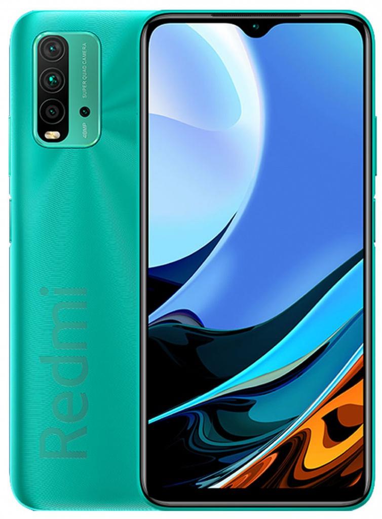 Сотовый телефон Xiaomi Redmi 9T 4/128Gb Ocean Green Выгодный набор + серт. 200Р!!!