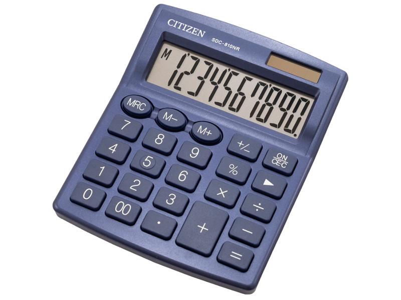 Калькулятор Citizen SDC-810NR-NV - двойное питание