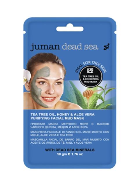 Грязевая маска Juman с минералами мертвого моря, маслом чайного дерева, медом и алоэ вера 50гр 5783