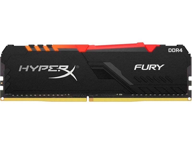 Модуль памяти HyperX Fury RGB DDR4 DIMM 3000MHz PC-24000 CL16 - 16GbHX430C16FB4A/16
