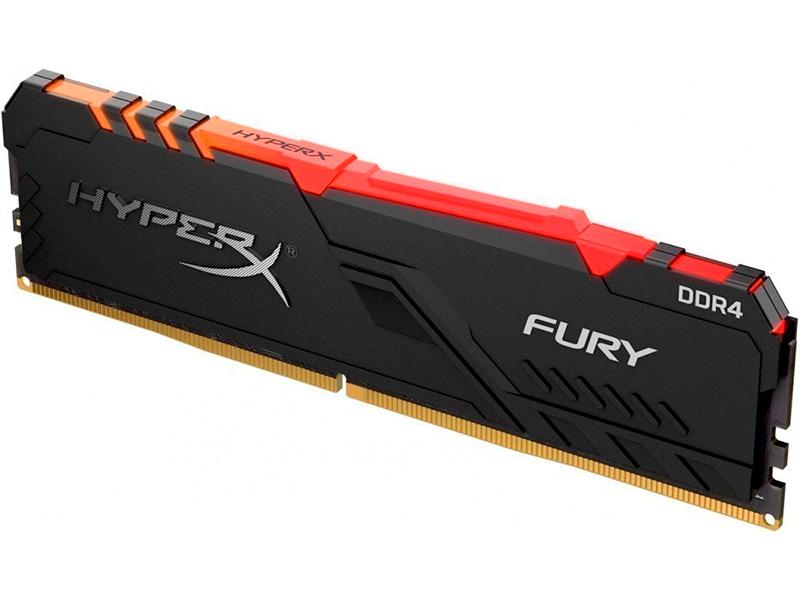 Модуль памяти HyperX Fury RGB DDR4 DIMM 2666MHz PC-21300 CL16 -16GbHX426C16FB4A/16