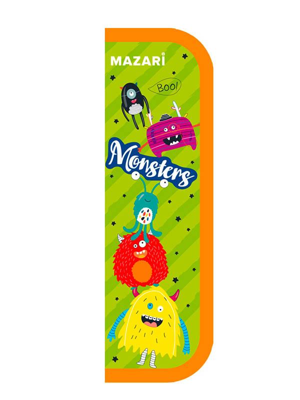 Пенал Mazari Monsters 190x65mm M-16101