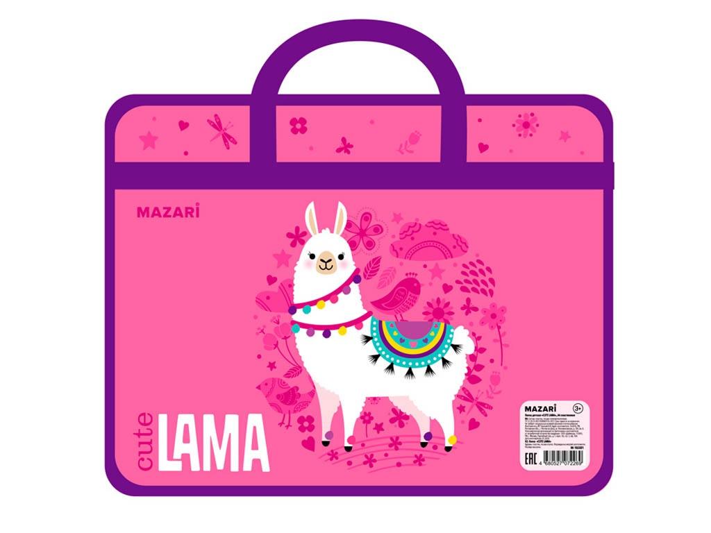 Папка Mazari Cute Lama А4 330x260x75mm M-16081