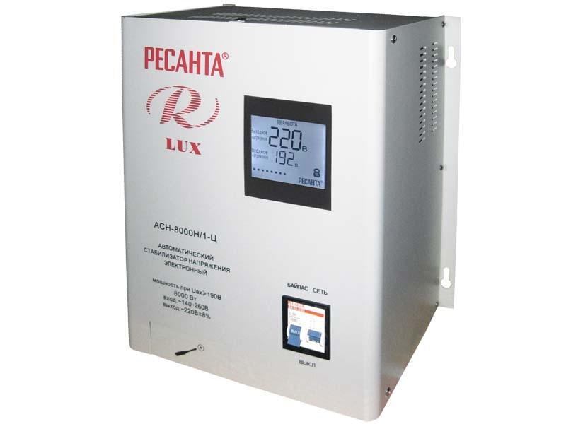 Стабилизатор Ресанта Lux АСН-8 000 Н/1-Ц 63/6/17