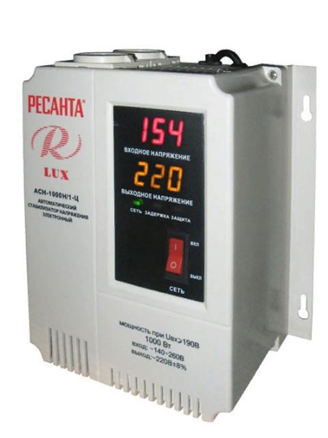 Стабилизатор Ресанта Lux АСН-1 000 Н/1-Ц 63/6/14 ресанта асн 12000н 1 ц lux