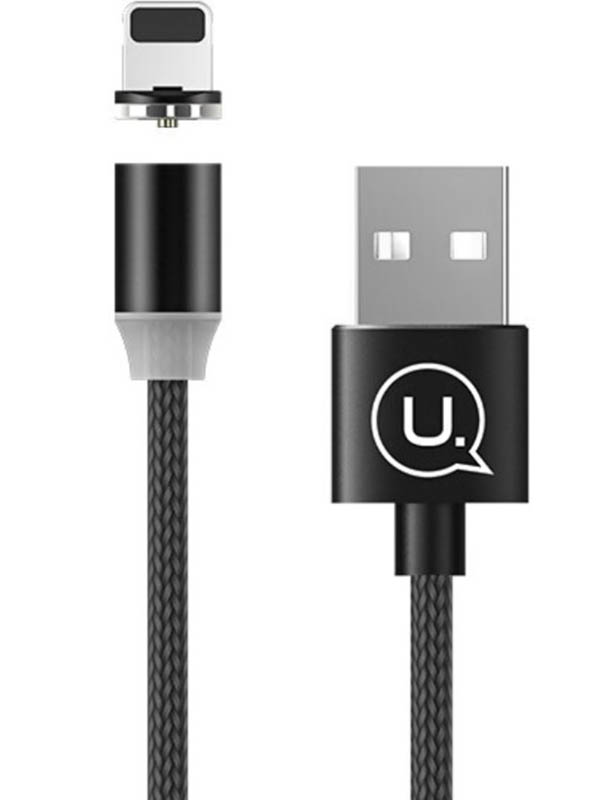 Аксессуар Usams U-Sure Series US-SJ292 USB - Lightning 1m Black SJ292USB01 аксессуар usams us cc076 2 in 1 lightning apple watch