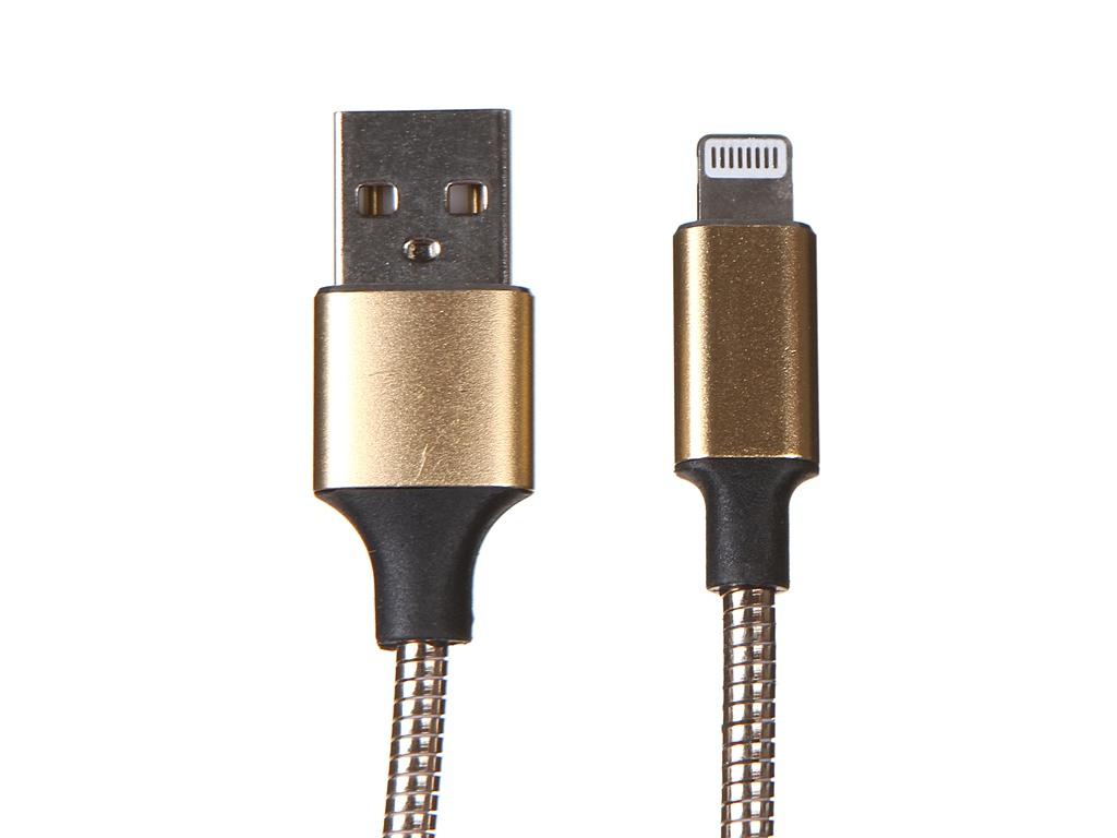 Фото - Аксессуар Media Gadget Lightning 2A 1m Gold MGC040MGD аксессуар baseus lightning 2a kevlar 1m black gold calklf bv1