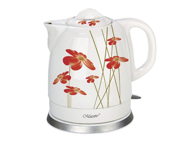 Чайник Maestro MR-066 1.5L White Flowers Red