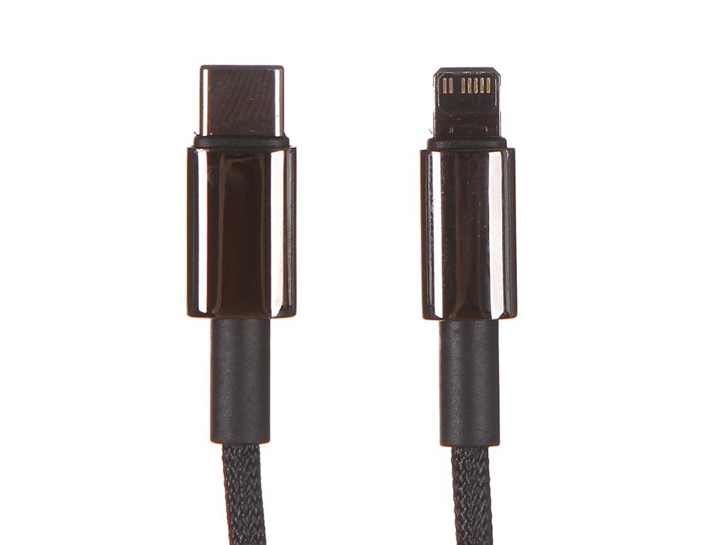 Аксессуар Baseus Tungsten Gold Lightning - USB Type-C 1m Black CATLWJ-01