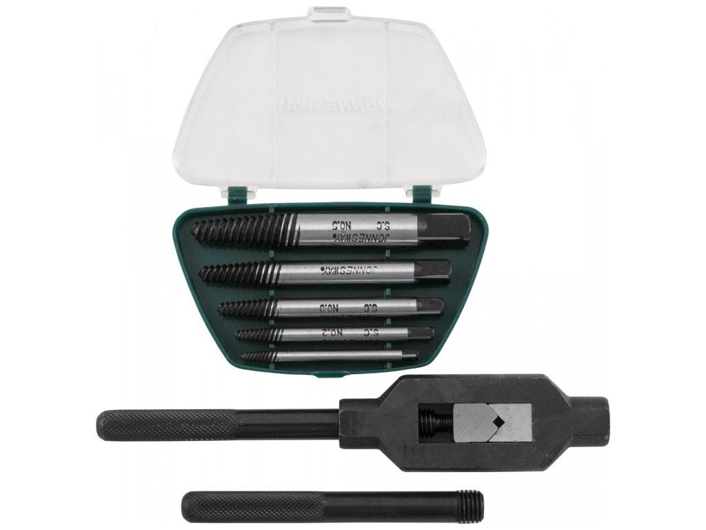 Инструмент Набор экстракторов спиральных конических с держателем Jonnesway AG010110