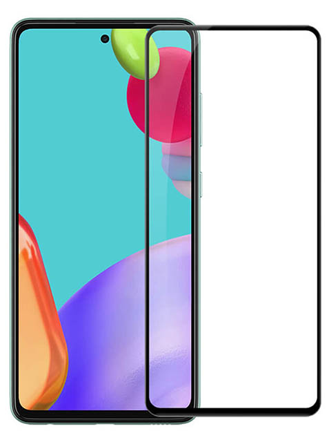 Защитное стекло Pero для Samsung Galaxy A52 Full Glue Black PGFG-A52