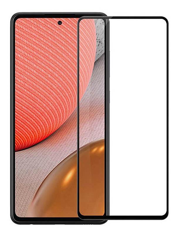 Защитное стекло Pero для Samsung Galaxy A72 Full Glue Black PGFG-A72