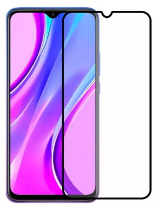 Защитное стекло Pero для Xiaomi Poco M3 Full Glue Privacy Black PGFGP-XPM3