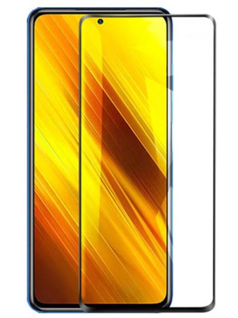 Защитное стекло Pero для Xiaomi Poco X3 Full Glue Privacy Black PGFGP-XPX3