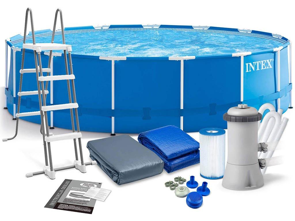 Бассейн Intex Metal Frame 457x122cm 16805L 28242