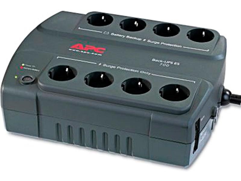 Источник бесперебойного питания APC Back-UPS ES 400VA 240W BE400-RS ибп apc be700g rs power saving back ups es 8 outlet 700va 405w