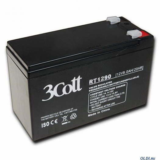 Аккумулятор для ИБП 3Cott 12V 9Ah