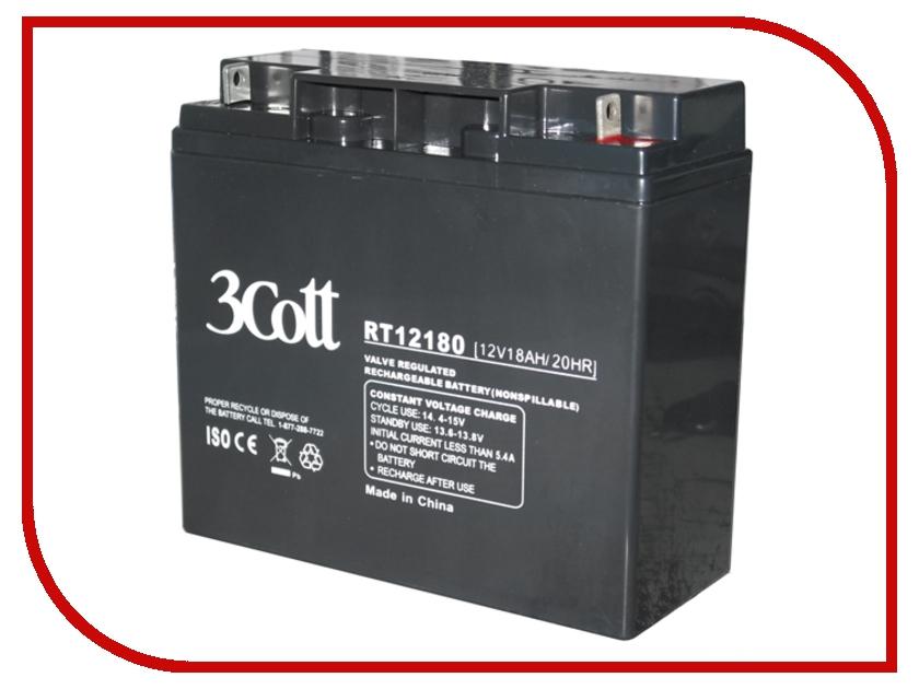 Аккумулятор для ИБП 3Cott 12V 18Ah аккумулятор 3cott 12v7ah