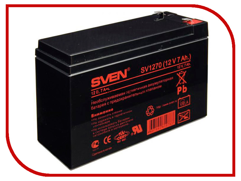 Аккумулятор для ИБП Sven SV 12V 7Ah SV1270 батарея для ибп sven sv1272 12в 7 2а