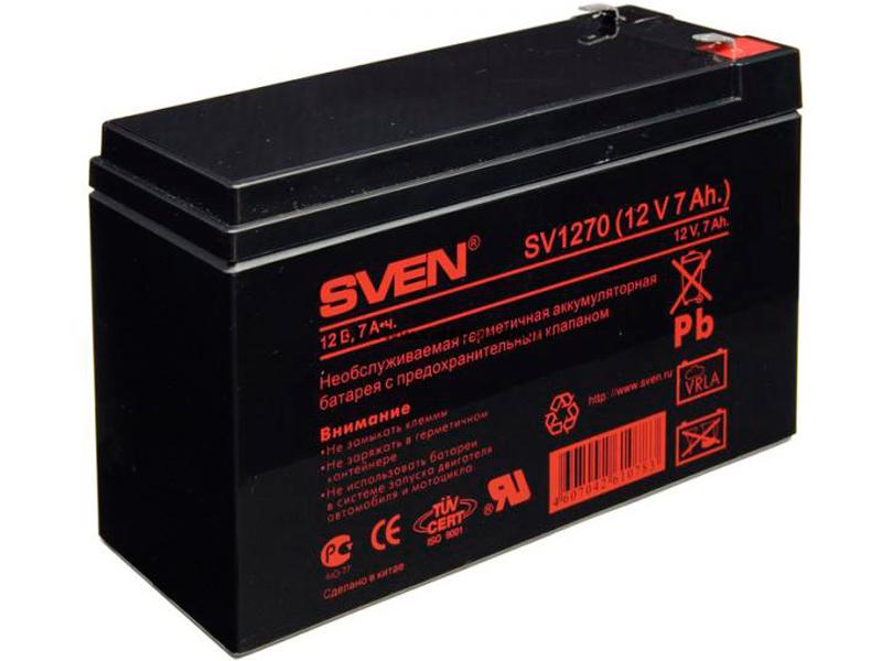 Аккумулятор для ИБП Sven SV 12V 7Ah SV1270 цена в Москве и Питере