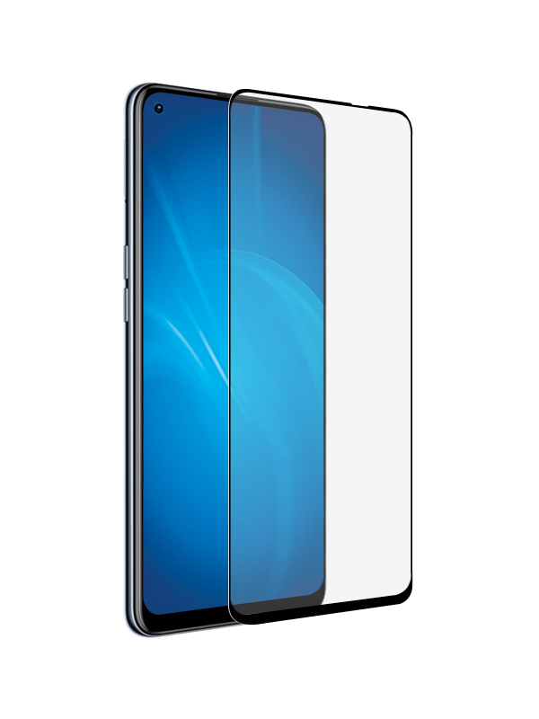 Закаленное стекло DF для Realme 8 / Pro Full Screen Glue Black Frame rmColor-14