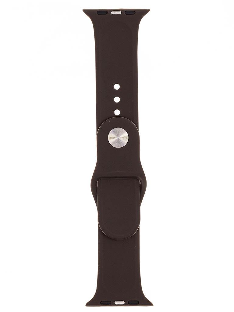 Аксессуар Ремешок Evolution для Apple Watch 42/44mm Sport Silicone Cocoa AW44-S01