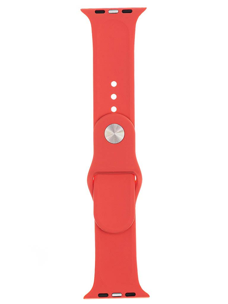 Аксессуар Ремешок Evolution для Apple Watch 42/44mm Sport Silicone Coral AW44-S01