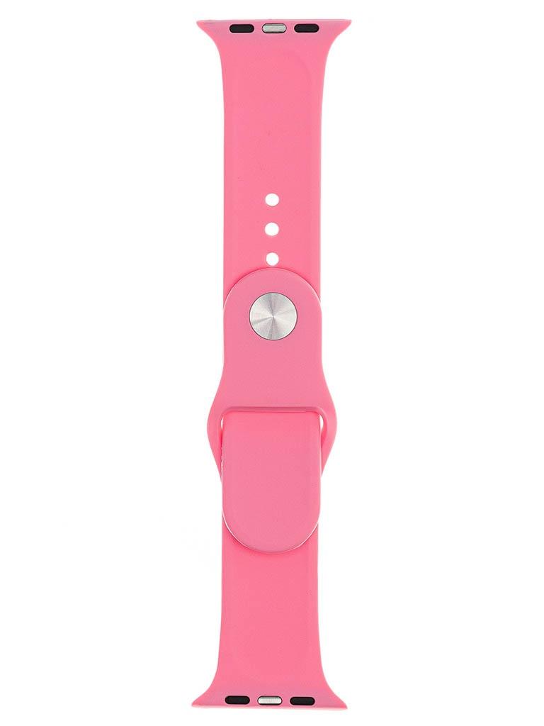 Аксессуар Ремешок Evolution для Apple Watch 42/44mm Sport Silicone Light Pink AW44-S01