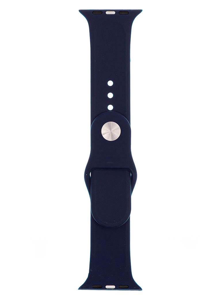 Аксессуар Ремешок Evolution для Apple Watch 42/44mm Sport Silicone Midnight Blue AW44-S01