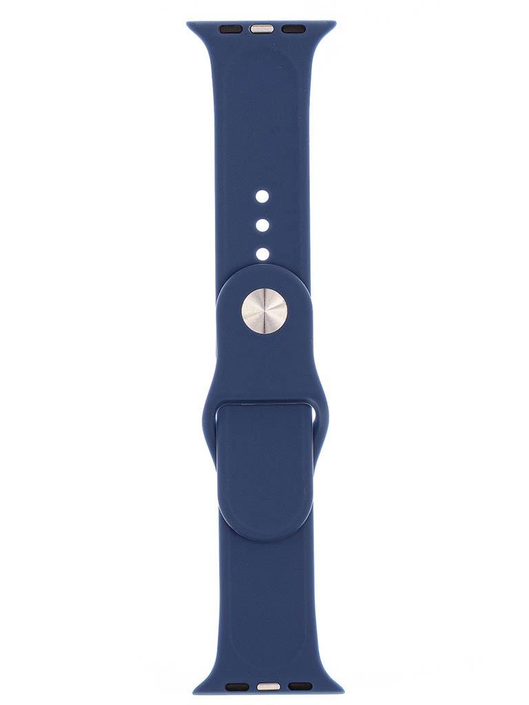 Аксессуар Ремешок Evolution для Apple Watch 42/44mm Sport Silicone Navy Blue AW44-S01
