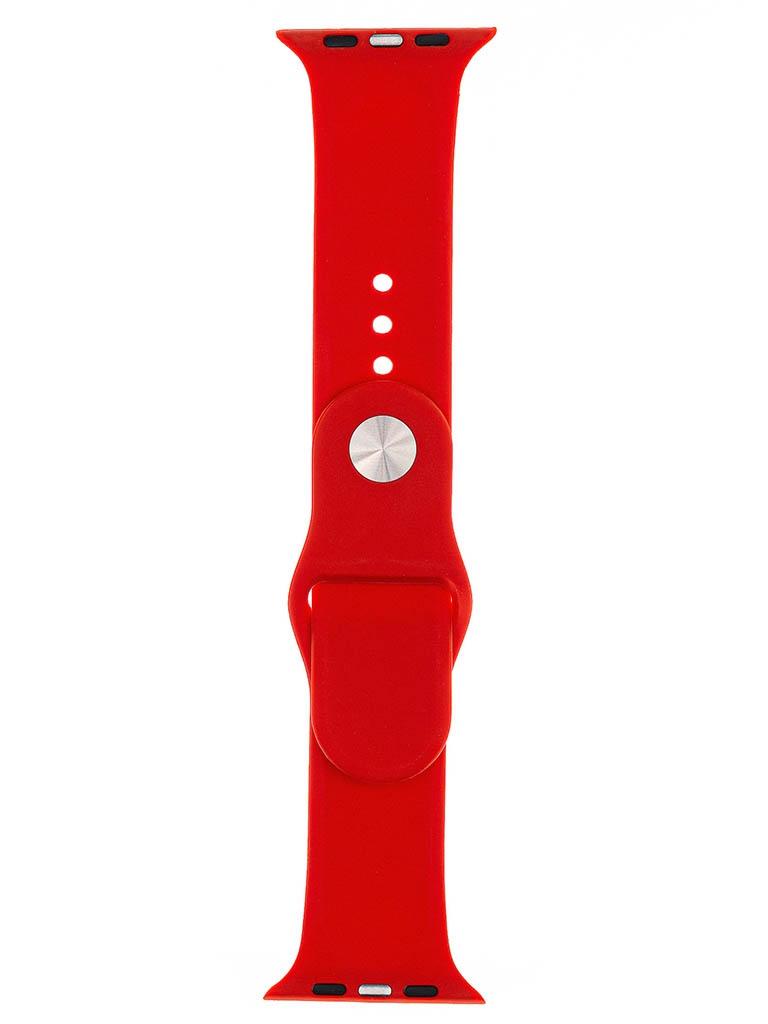 Аксессуар Ремешок Evolution для Apple Watch 42/44mm Sport Silicone Red AW44-S01