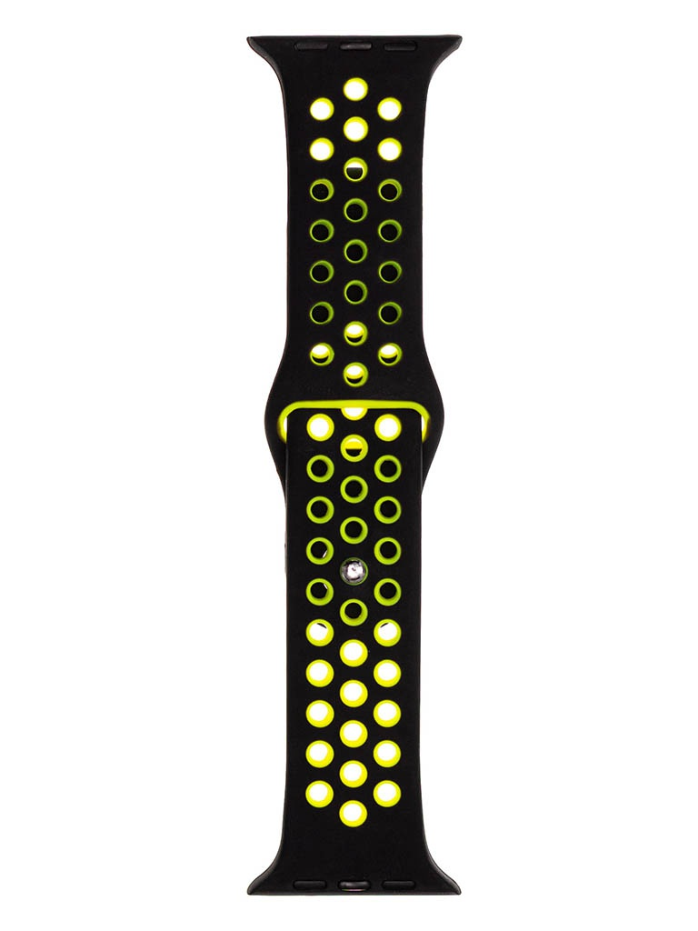 Аксессуар Ремешок Evolution для Apple Watch 42/44mm Sport+ Silicone Black-Yellow AW44-SP01
