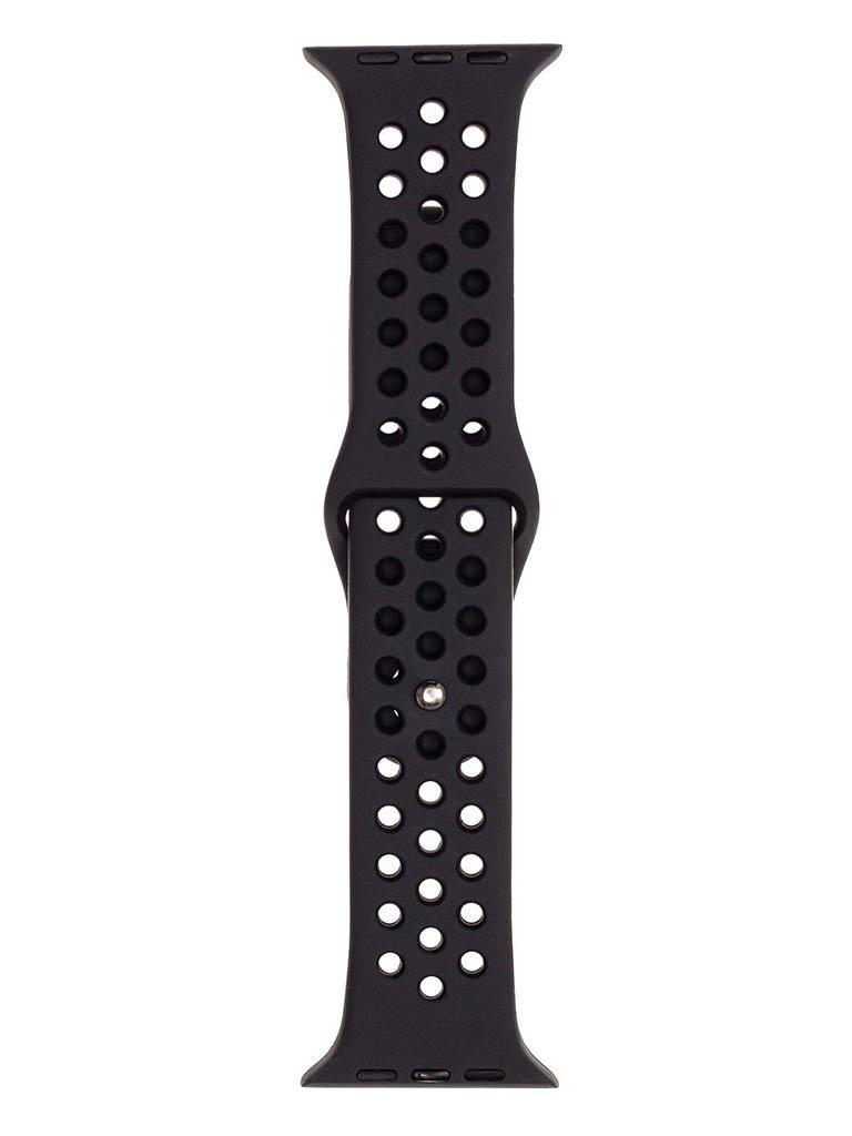 Аксессуар Ремешок Evolution для Apple Watch 42/44mm Sport+ Silicone Grey-Black AW44-SP01