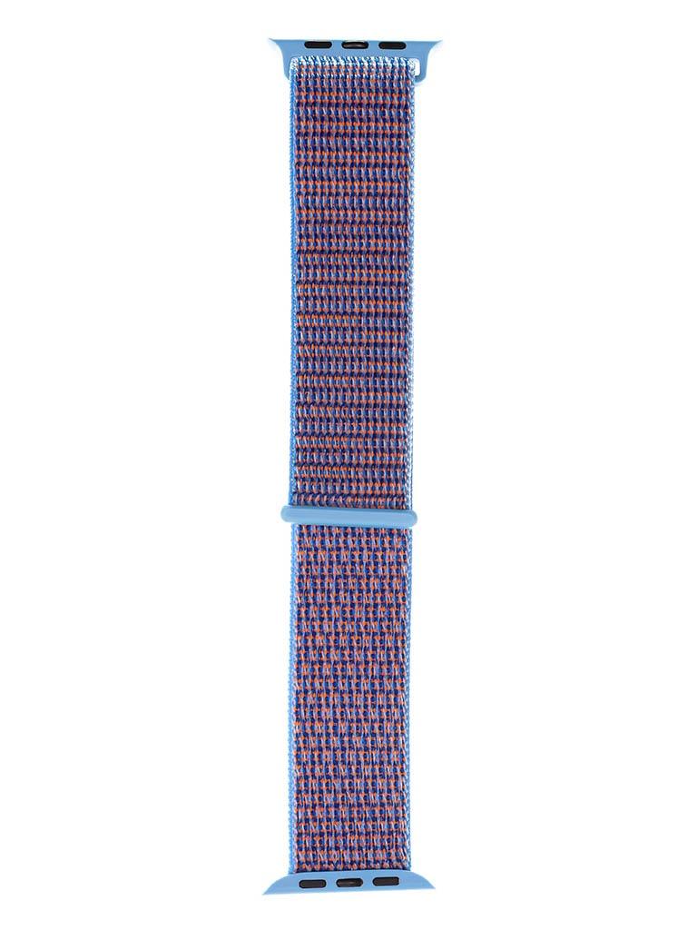 Аксессуар Ремешок Evolution для APPLE Watch 42/44mm Sport Loop AW44-SL01 Nylon New Blue 36758