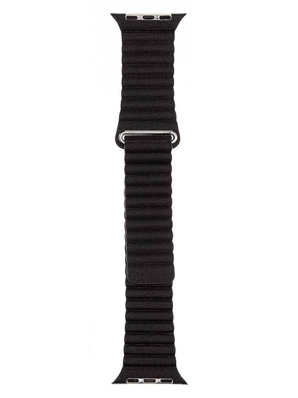 Аксессуар Ремешок Evolution для APPLE Watch 42/44mm Leather Loop AW44-LL01 Dark Black 36778