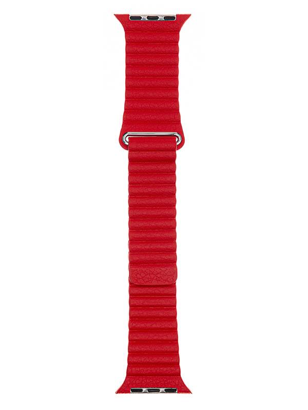 Аксессуар Ремешок Evolution для APPLE Watch 42/44mm Leather Loop AW44-LL01 Imperial Red 36782