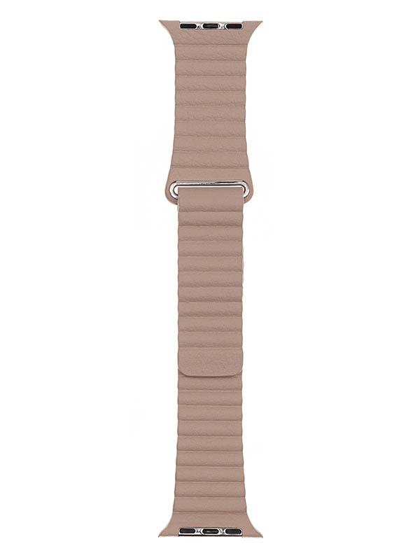 Аксессуар Ремешок Evolution для APPLE Watch 42/44mm Leather Loop AW44-LL01 Ivory 36781