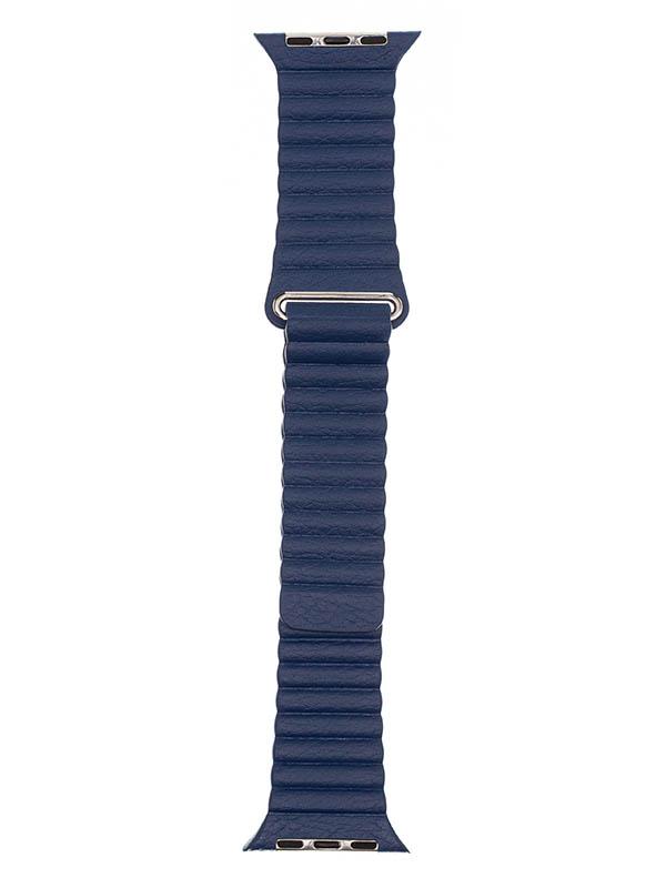 Аксессуар Ремешок Evolution для APPLE Watch 42/44mm Leather Loop AW44-LL01 Night Saphir 36779