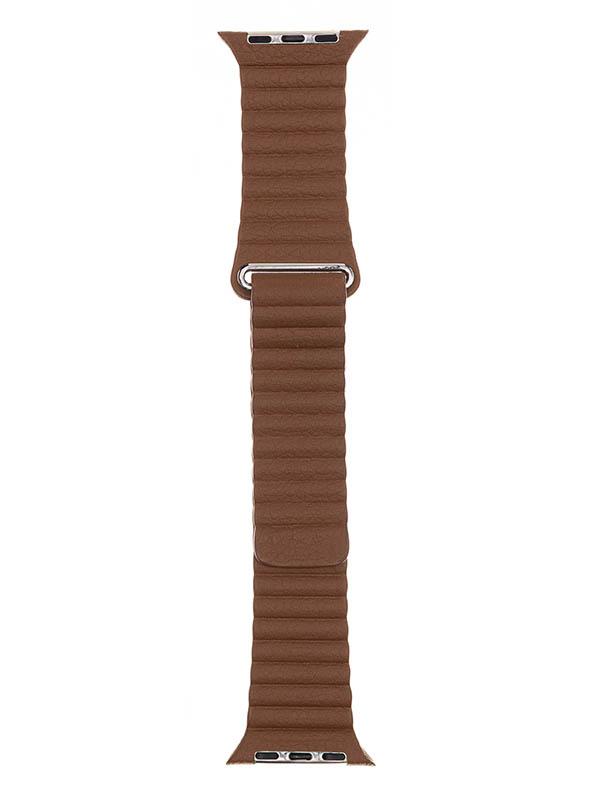 Аксессуар Ремешок Evolution для APPLE Watch 38/40mm Leather Loop AW40-LL01 Nut Brown 36829