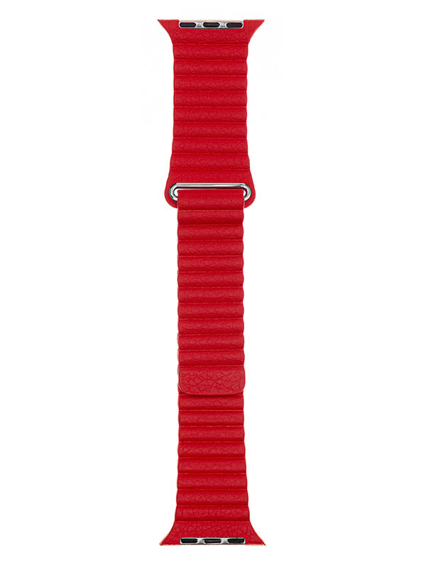 Аксессуар Ремешок Evolution для APPLE Watch 38/40mm Leather Loop AW40-LL01 Imperial Red 36831
