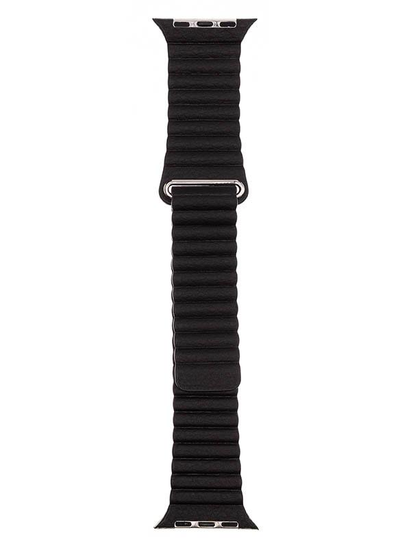 Аксессуар Ремешок Evolution для APPLE Watch 38/40mm Leather Loop AW40-LL01 Dark Black 36828