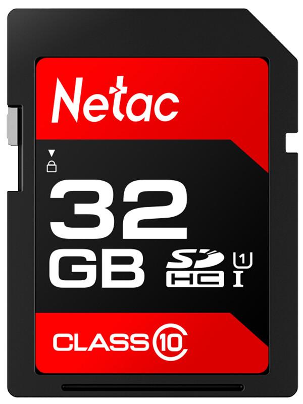 Фото - Карта памяти 32Gb - Netac SDHC P600 UHS-I Class 10 U1 NT02P600STN-032G-R transcend 4gb sdhc class 10 uhs i u1 r95 w45mb s